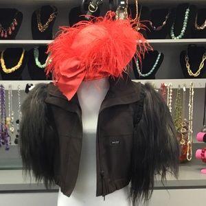 Vintage ostrich feather hat